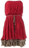 *NEW W/TAGS* Women's Red Chiffon Party Dress S