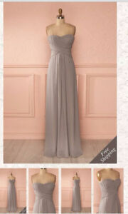 Beautiful Grey Strapless Gown in Excellent Condition