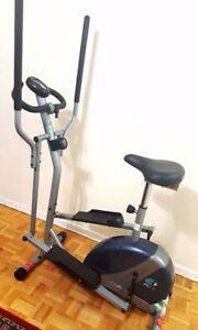 1 Vélo stationnaire elliptique 2 dans 1,..145$ferme pas négo**