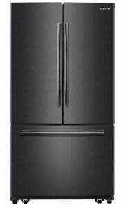 "SAMSUNG RF 260 Beaesg 36"" Black Stainless French Door Refrig"