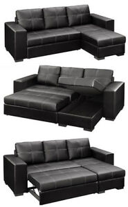 2PCS BONDED LEATHER SECTIONAL WITH PULL OUT $649 Kitchener / Waterloo Kitchener Area image 1