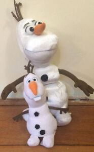Pair of OLAF STUFFED TOYS Frozen $15 for pair