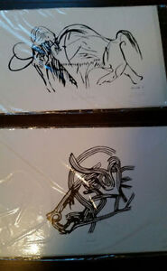 Aurochs & Big Toothed One Limited Edition Prints by Paul Sutton