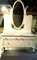 COMMODE COIFFEUSE ANTIQUE SHABY DRESSER
