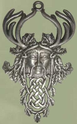 Greenwood HERNE Cernunnos Pewter Pendant Wiccan Celtic Pagan Amulet Talisman