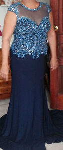 Evening gown, Mother of the Bride Jeweled Dress Size 12