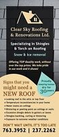 Clear sky roofing and renovations ltd.