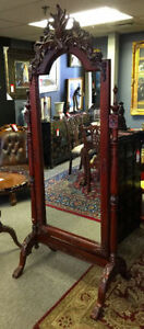 Item #7307 • Full Length Mahogany Mirror
