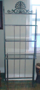WROUGHT IRON BAKERS RACK GREEN PATINA BRAND NEW