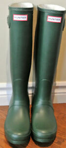 NEW HUNTER Tall RAIN Waterproof BOOTS Matte Green 6M/7F & 7M/8F