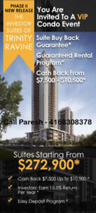 $10,000 Cash Back - Trinity Ravine Condos From - $272900 Only