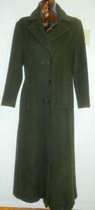 DAVID FINLAY Coat // Canadian Designer // M 12 // Soft Angora Wool // Long Full Length // GREEN // Mint // FREE Scarf