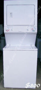Electrolux Large Stacked Washer Dryer, 1 year warranty