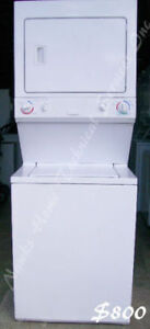 Electrolux Large Stacked Washer Dryer, 12 month warranty