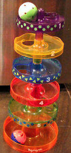 Playwell Spiral Tower Ball Toy, Train Ball Popper, Hippo Shapes