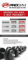 Promotion ProGym Montreal, recherche nouveaux membres 249$!!!