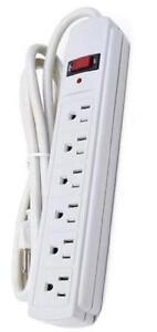 CS 6-Outlets 180J Surge Protection Power Bar - LED Indicator - 4