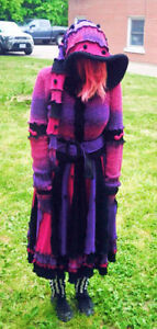 One of a kind Recycled Elf Etsy Pixie Sweater Coat! London Ontario image 3