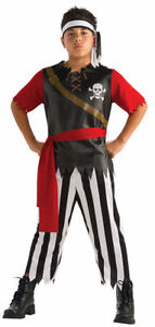 PIRATE KING Costume in Bag Size Small (Child 4-6)