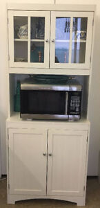 Microwave stand with cabinet for display