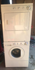 """""""27"""" Frigidaire stackable washer dryer for sale"""