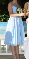 Beautiful light blue bridesmaid/prom dress, size 10
