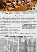 Please do this study - last chance