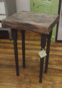 Tall Rustic End Table at We Paint It! Port Hope Peterborough Peterborough Area image 1