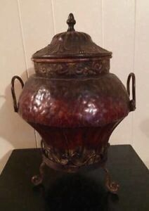 Metal/Iron Urn with Lid - $65