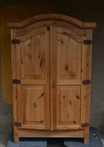 Large Rustic Wardrobe with Shelves