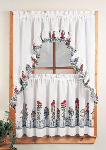Birdhouse Kitchen Curtains Cool Design Inspiration