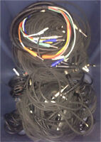 Bin of audio cables (used)