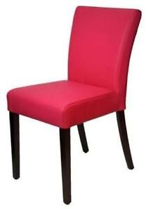 Pink Leather Dining Room Chair, Low Back and Comfortable