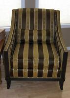 Handmade striped silk chair - Kravet Furniture