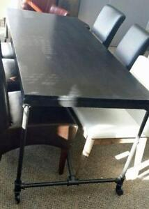 On Sale Industrial Folding Dining Table on Wheels on Clearance