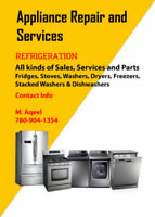 APPLIANCE REPAIR & SERVICES ---WE GUARANTEE OUR WORK