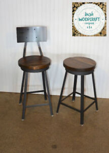 Industrial Farmhouse Counter & Bar Height Stools
