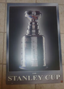 NHL Stanley cup plaque-mounted poster
