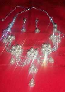 Faux Pearls and crystals