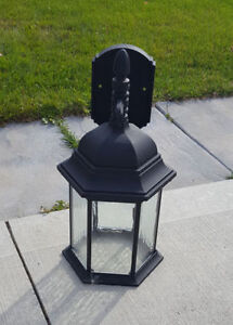 Four Black Wall Mounted Outdoor LED Lantern Lights