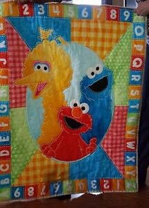 "Sesame Street Quilt ""Hand Made and Hand Stitched"""