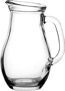 Glass Pitcher Jug A perfect Water, Juice and Wine Jug 0.25, 0.5, 1.0, 1.8 Litre.