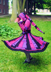 One of a kind Recycled Elf Etsy Pixie Sweater Coat! London Ontario image 1