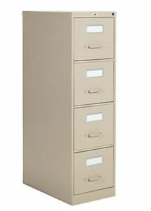 Vertical Letter File Cabinet, 4-Drawer, Sand. Excellent conditio