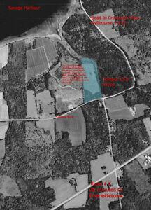 13.8 acres - Bay View ~ Creekfront ~ Crowbush 3 km away...