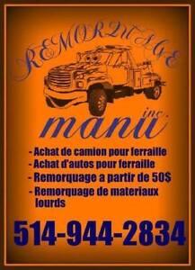 Achat de véhicules pour la scrap / we buy car & trucks for scrap