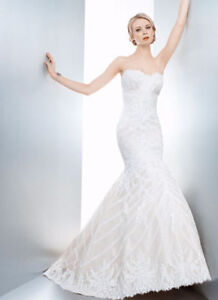 Matthew Christopher Sofia Gown & Cathedral Veil