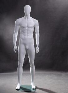 White Male Mannequin/ egg head mannequin/ mannequin