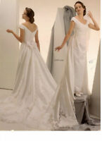 Slim bridal gown#6409 by Bonny