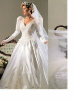 Wedding gown#3082 with royal train by Venus